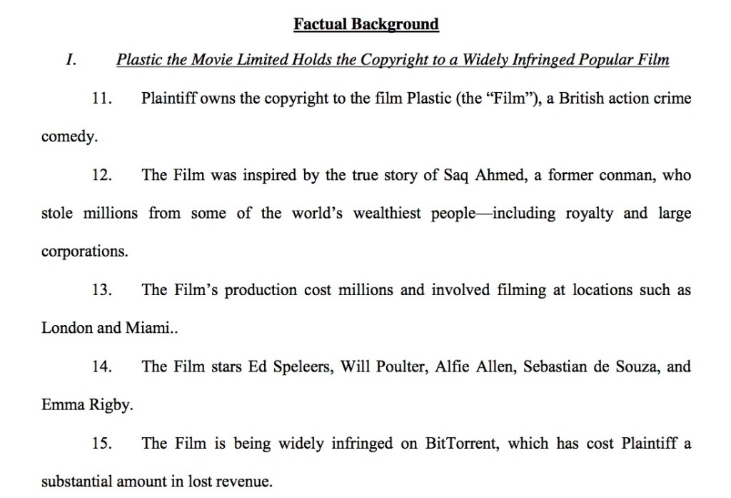 Plastic the Movie Complaint